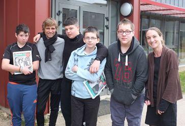 Rudy, Franck, Luca, Aristide et Tanguy, élèves à l'ITEP de Saint-Jacut