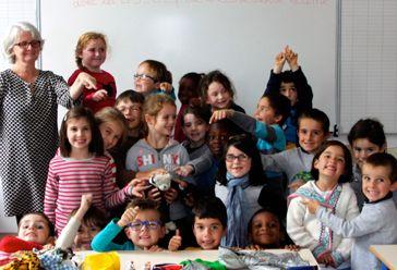 Les élèves de GS/CE1 de l'école Notre-Dame de Redon