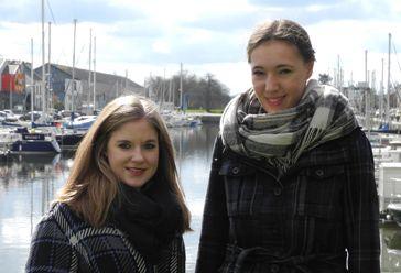 Sarah et Franziska, deux Allemandes en séjour à Redon