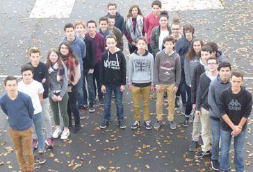 Les membres de la mini-entreprise du collège d'Allaire