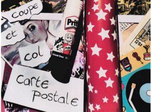 """Atelier """"Coupe, colle, cartes postales"""" @ Médiathèque Jean-Michel Bollé"""