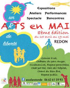 """Rencontre """"Arts en mai"""" (8ème édition) @ Grenier à sel, CinéManivel, château du parc Anger, salon du Bien-être, le Chat Pot Thé, hall de l'hôpital, Espace Parenthèsel"""