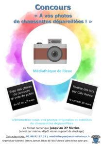 """Concours """"A vos photos de chaussettes dépareillées"""" @ Médiathèque """"Du récit à Rieux"""""""
