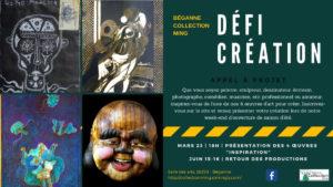 Défi création et enquête communautaire de la Collection Ming @ Salle des arts