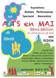 """Rencontre """"Arts en mai"""" 2019, 8ème édition Redon"""
