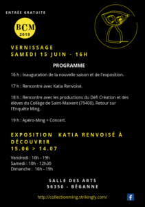 Vernissage Béganne Collection Ming @ Salle des arts