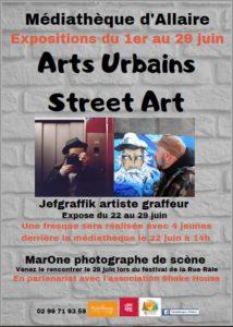 Expositions Les Arts Urbains-Street Art @ Médiathèque d'Allaire