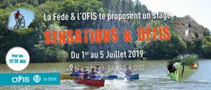 """Stage """"Sensations et Défis"""" @ L'île aux pies"""