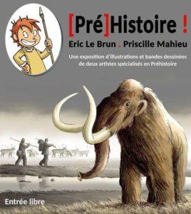 Exposition d'illustrations sur le thème de la préhistoire @ Médiathèque