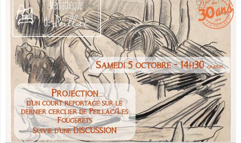"""Projection reportage """"le dernier cerclier de Peillac/Les Fougerets"""" @ Médiathèque Le Grand Logis"""