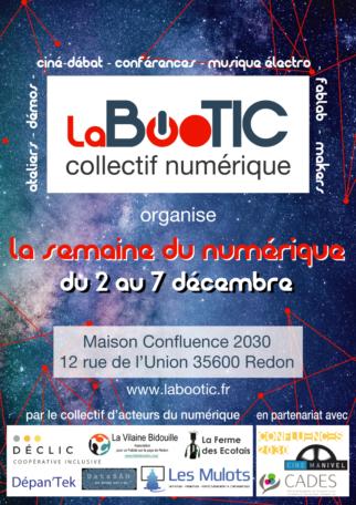 La Bootic : semaine du numérique @ Maison éclusière Confluences 2030