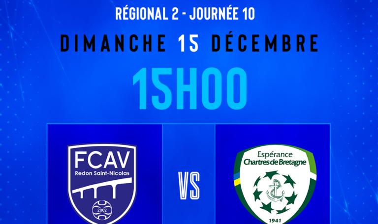 FCAV Redon 2-Espérance Chartres de Bretagne @ Parc des Sports