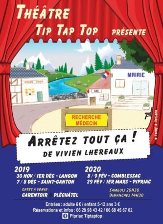 """Théâtre """"Arrêtez tout ça!"""" @ Espace Albert Poulain"""