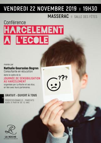 Conférence : Harcèlement à l'école @ Salle des Fêtes