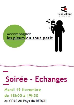 Soirée - échanges : Accompagner les pleurs du tout petit @ CDAS Pays de Redon (9 avenue de la Gare)