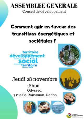 Comment agir en faveur des transitions énergétiques et sociétales ? @ Odysseo, 7 rue Saint-Conwoion