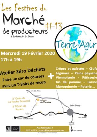 Atelier Zéro Déchet : Faire un sac de courses avec un T-Shirt de récup @ Ferme du Meunier