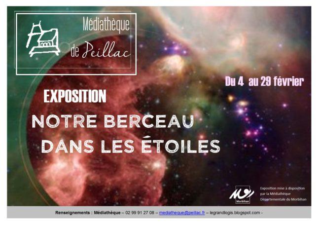 """Exposition """"Notre berceau dans les étoiles"""" @ Médiathèque Le Grand Logis"""