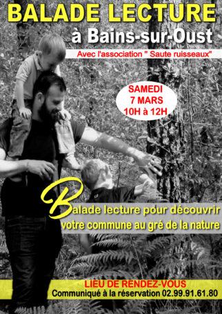 """Balade lecture """"saute ruisseaux"""" @ Bains-sur-Oust"""