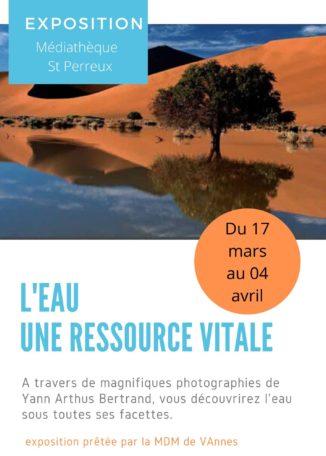 """Exposition """"L'eau une ressource vitale"""" @ Médiathèque"""