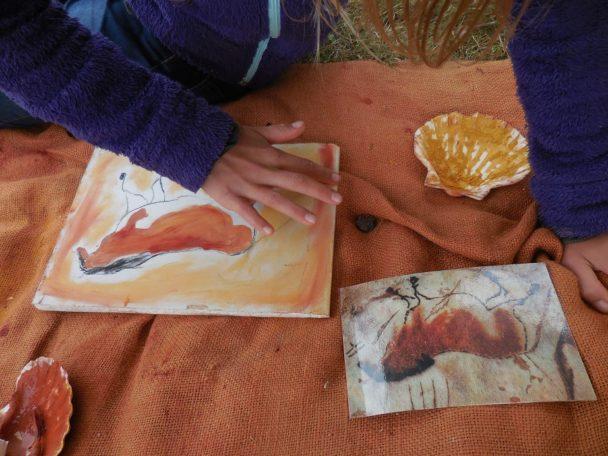 Atelier peinture paléolithique @ Maison Mégalithes et Landes