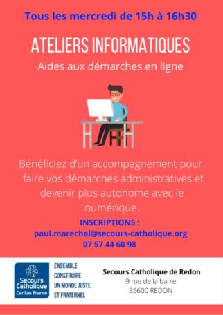 Ateliers d'initiation à l'informatique @ Château de la Barre