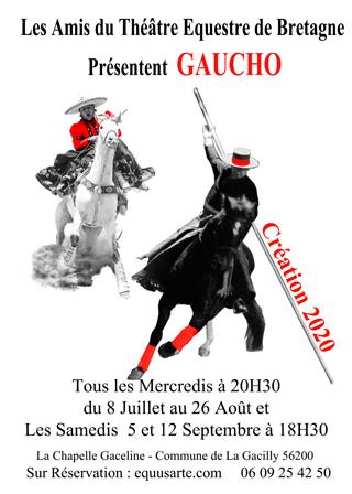 Spectacle équestre Gaucho @ Théâtre équestre de Bretagne