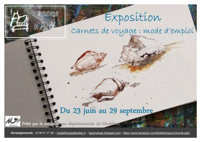 """Exposition """"Carnets de voyage : mode d'emploi"""" @ Médiathèque Le Grand Logis"""