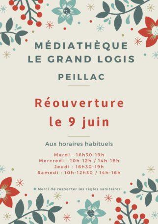 Réouverture de la médiathèque de Peillac @ Médiathèque Le Grand Logis