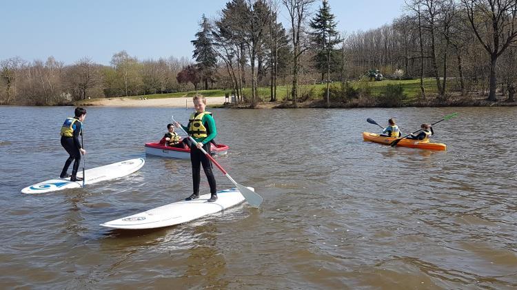 Paddle à l'étang Aumée @ Base nautique
