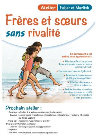 """Cycle Faber et Mazlish """"Frères et soeurs sans rivalité"""" @ Salle associative"""