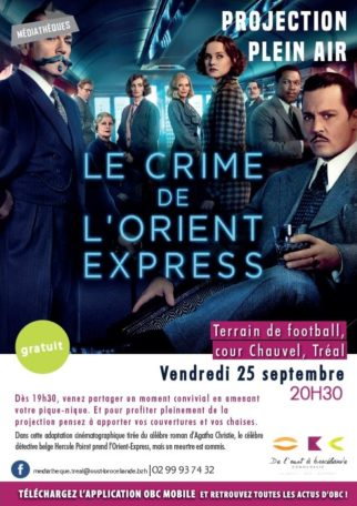 "Projection Plein air ""Le Crime de l'Orient-express"" @ Terrain de football, cour Chauvel"
