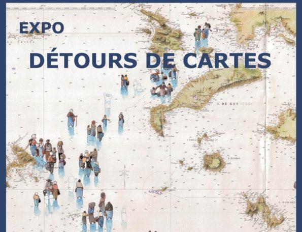 """Exposition """"Détours de Cartes"""" de Pierre Le Den @ Médiathèque communautaire"""