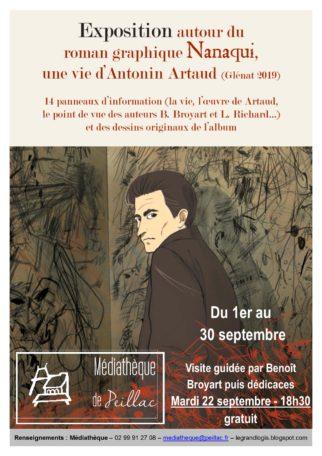 """Exposition """"Nanaqui, une vie d'Anthonin Artaud"""" @ Médiathèque Le Grand Logis"""
