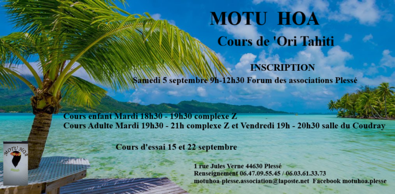 Inscriptions cours 'Ori Tahiti @ Forum