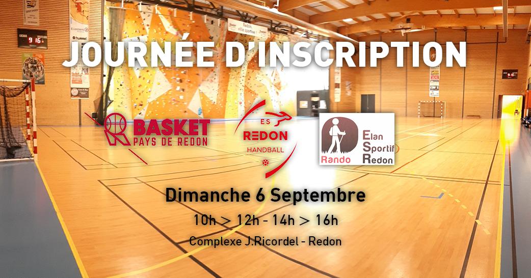Journée d'inscription Basket/Handball/Randonnée