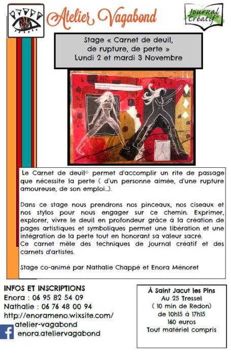 Stage «Carnet de Deuil, de rupture, de perte»