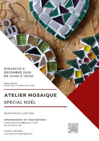 Atelier mosaïque spécial Noël @ Rue de la Gaudinaie