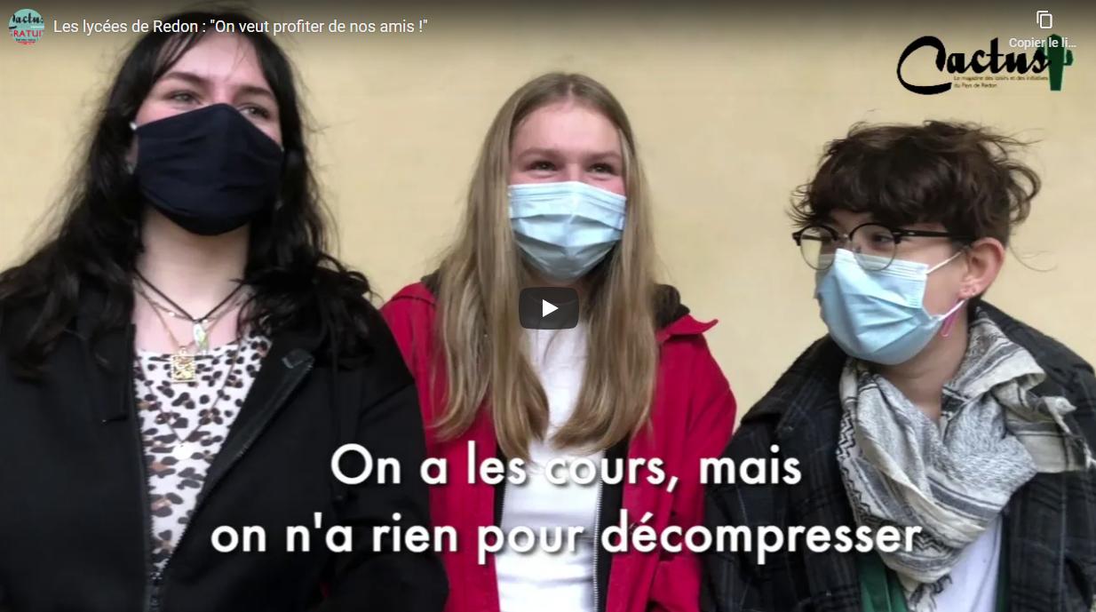 """Les lycées de Redon : """"On veut profiter de nos amis !"""""""