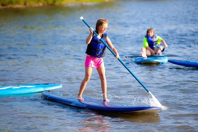 Paddle à l'étang Aumée