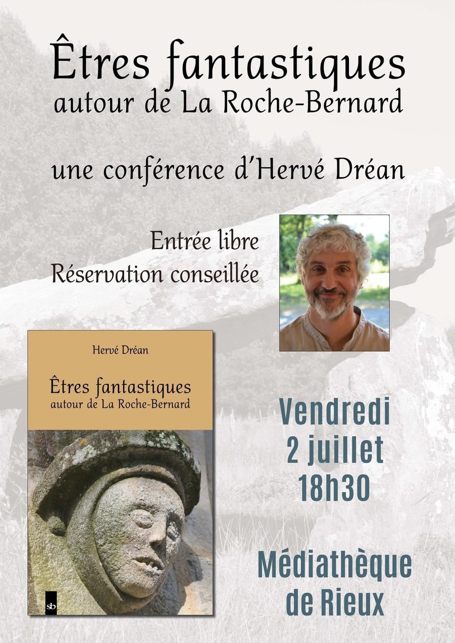 """Conférence-dédicace """"Etres fantastiques autour de la Roche-Bernard"""""""