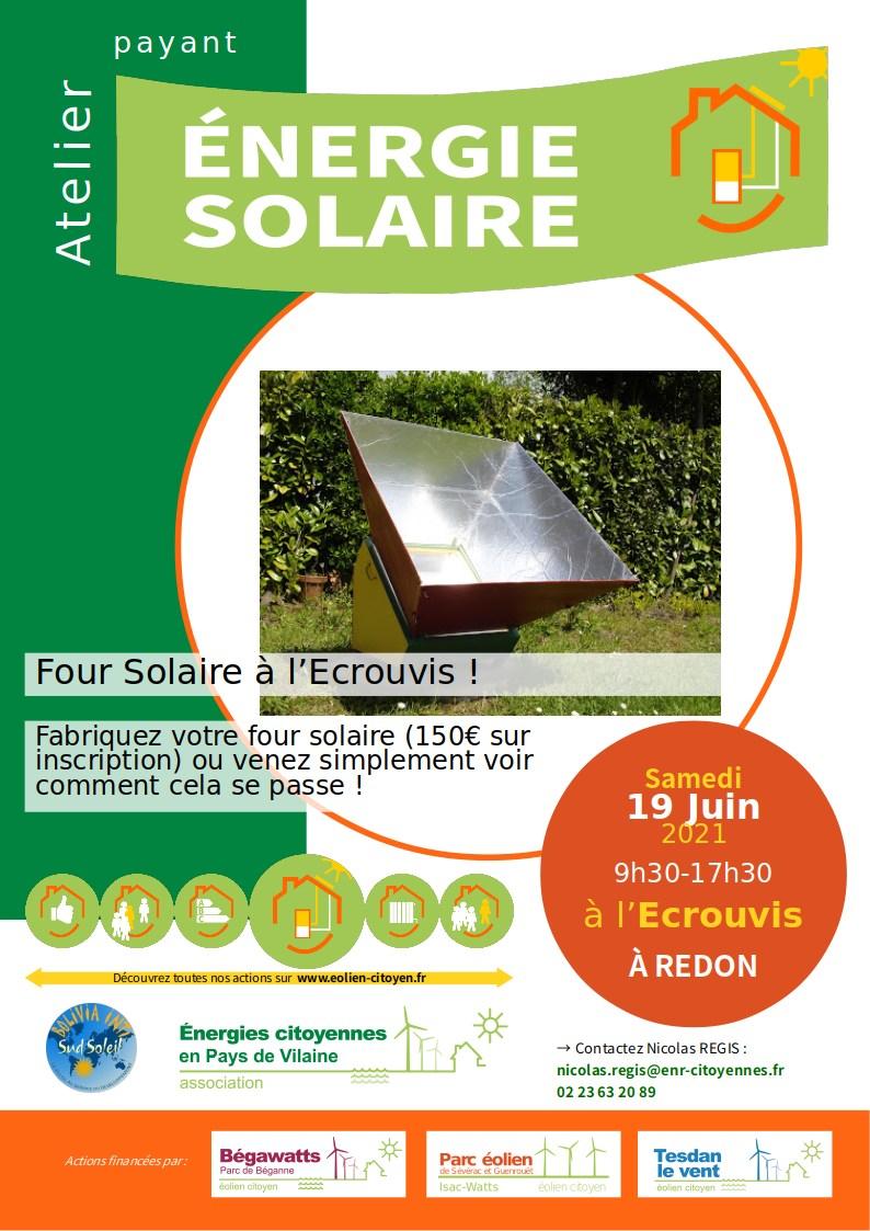 Construction de four solaire