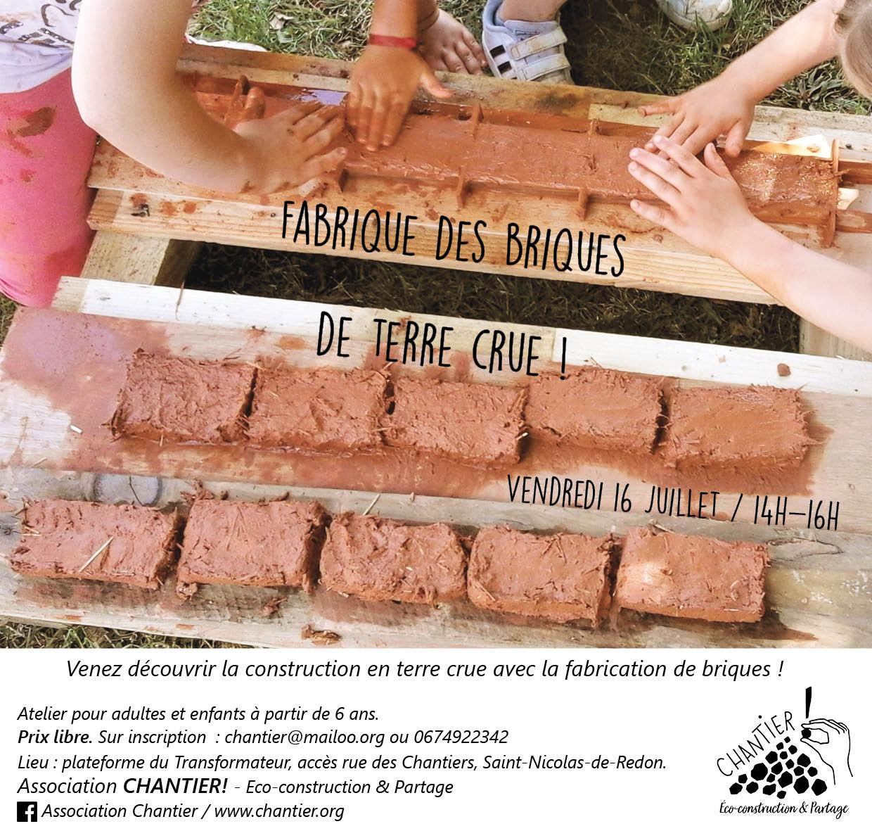 Atelier : Briques de terre crue !