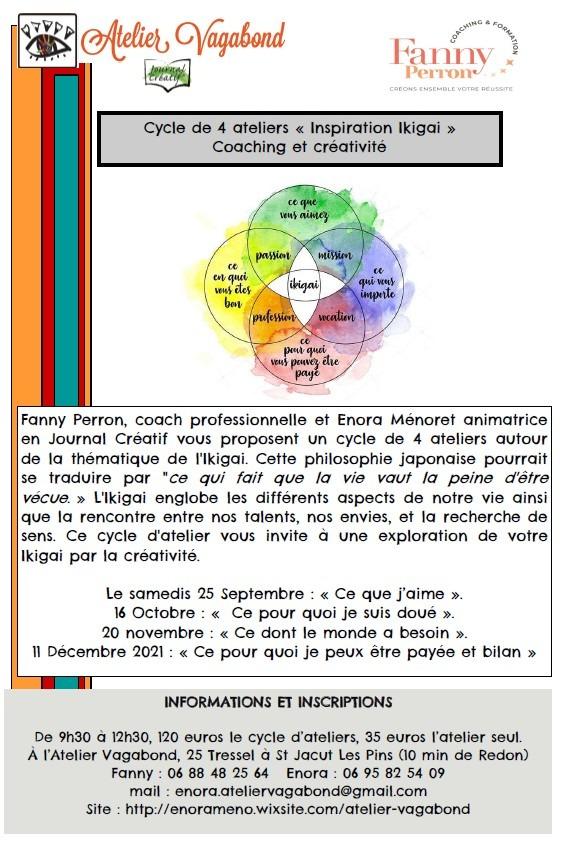 """Cycle de 4 ateliers """"Inspiration Ikigai"""""""