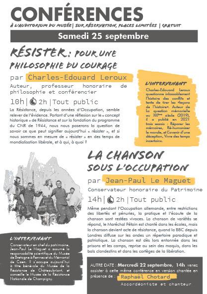 Conférence : Résister pour une philosophie du courage, par Charles-Edouard Leroux